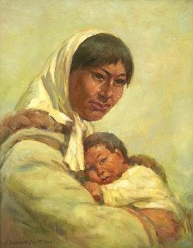 Artwork by Adam Sherriff Scott, Mother and Child