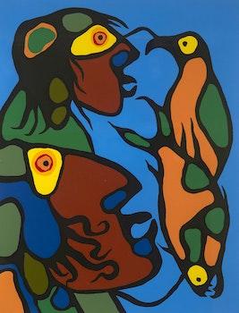 Artwork by Norval Morrisseau, Soul Looks Beyond