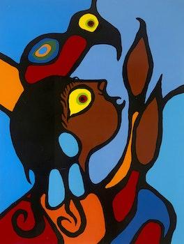 Artwork by Norval Morrisseau, Artist Grandson