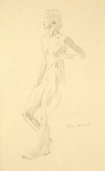 Artwork by Charles Fraser Comfort, Female Nude (Facing Left)