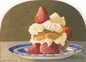 Artwork by Thomas de Vany Forrestall, Strawberry Shortcake; Flowers Under a Skylight