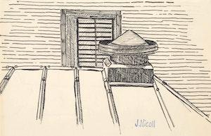 Artwork by Jim Nicoll, Rooftop Detail; Figure Study