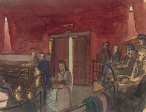 Artwork by Philip Henry Howard Surrey, Le Theatre Canadien
