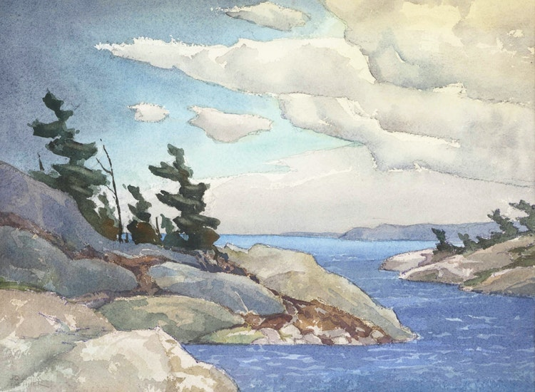Artwork by Joachim George Gauthier,  Georgian Bay Shore