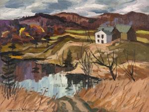 Artwork by Henri Leopold Masson, La Lievre River, November