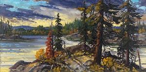 Artwork by Rod Charlesworth, October Light, Northern ONT