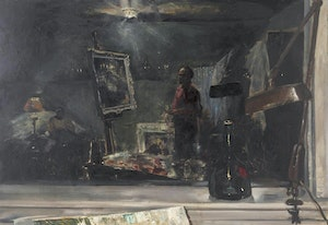 Artwork by John Adrian Darley Dingle, The Window (The Artist in his Studio)