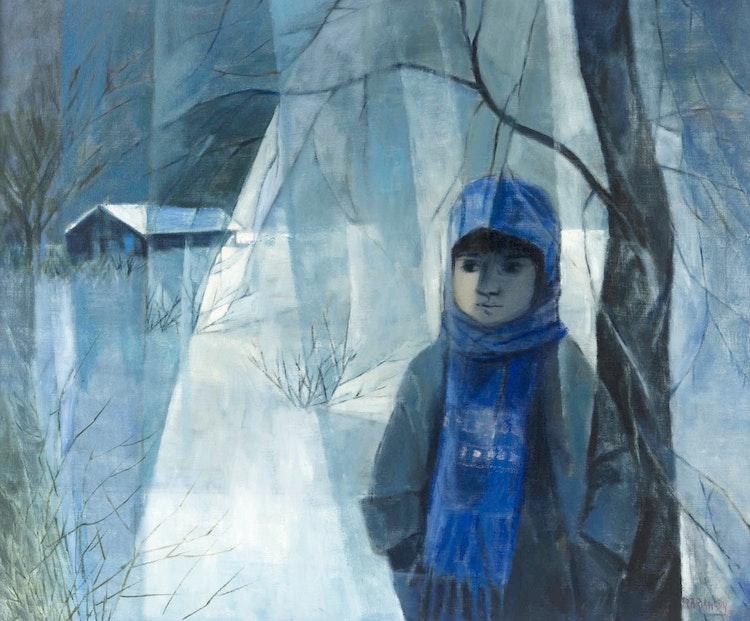 Artwork by Rita Briansky,  Looking Backward