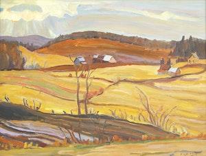 Artwork by Ralph Wallace Burton, Sun Drawing Water, Masham, Quebec