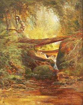 Artwork by Aaron Allan Edson, Mountain Stream
