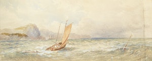 Artwork by William Nicoll Cresswell, Sailing Boats on Lake Superior