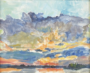 Artwork by Dorothy Elsie Knowles, Sunset Landscape