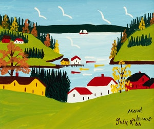 Artwork by Maud Lewis, Late Summer in Sandy Cove
