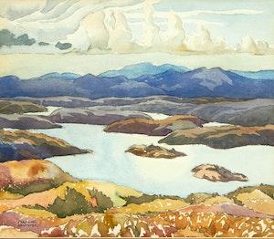 Artwork by Joachim George Gauthier, MacGregor Bay, Near Whitefish Falls