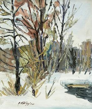 Artwork by Armand Tatossian, Feuillus en hiver