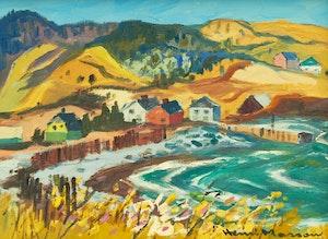Artwork by Henri Leopold Masson, Anse au Griffon, Gaspésie