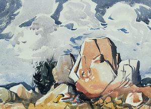 Artwork by Henry George Glyde, Rocky Landscape