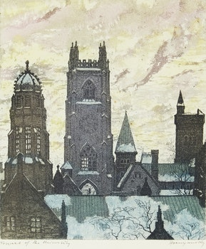Artwork by Nicholas Hornyansky, Towers of the University