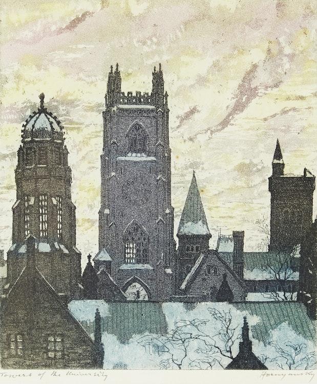 Artwork by Nicholas Hornyansky,  Towers of the University