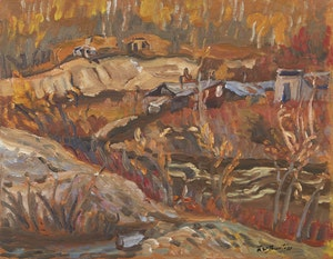 Artwork by Ralph Wallace Burton, Near Dawson City, Yukon