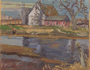 Artwork by Ralph Wallace Burton, Late Spring on the Nation River
