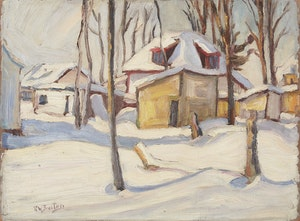 Artwork by Ralph Wallace Burton, Winter in Woodroffe