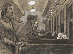 Artwork by Philip Henry Howard Surrey, Dans le train (Train Scene)