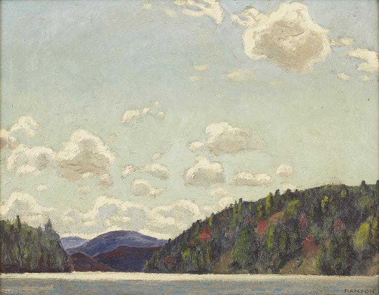 Artwork by Lawrence Arthur Colley Panton,  Blue Mountains Near Indian Village, Atlantic Coast