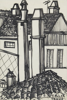 Artwork by  Unknown 20th Century Artist, Rooftops