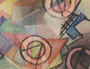Artwork by Fritz Brandtner, Abstract Design