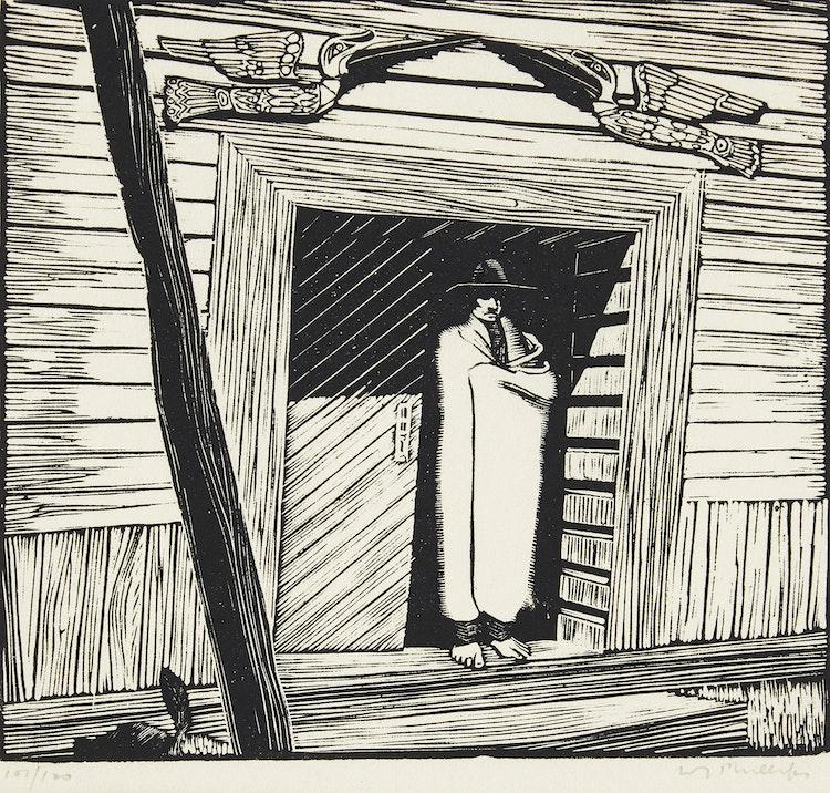 Artwork by Walter Joseph Phillips,  House of the Gulls, Karlukwees