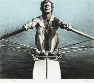 Artwork by Kenneth Danby, The Sculler