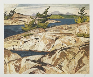 Artwork by Alfred Joseph Casson, Picnic Island; March Day; Country Crisis