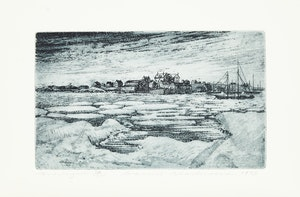 Artwork by David Lloyd Blackwood, Wake of the Great Sealers
