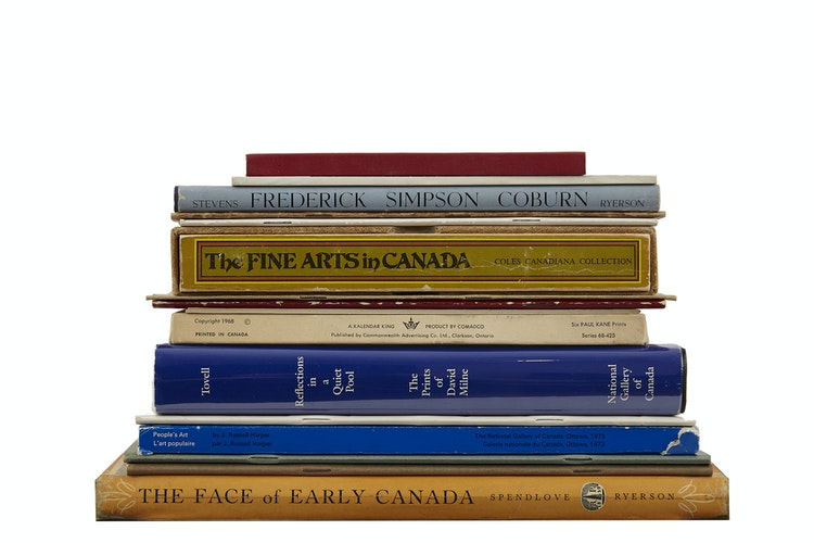 Artwork by  Books and Reference,  Selection of Books, Pamphlets and Cards related to Historical Canadian Art