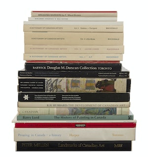 Artwork by  Books and Reference, Selection of Books, Pamphlets and Reference Material related to Canadian Art History