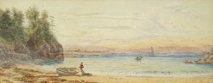 Artwork by William Armstrong, Shoreline Landscape