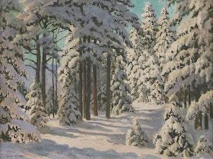 Artwork by Thomas Albert Stone, Snow Laden Pine