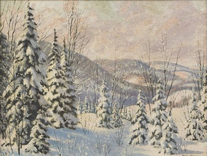 Artwork by Thomas Albert Stone, Fresh Snow, Emsvale