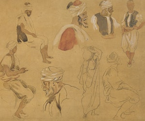 "Artwork by Eugène Delacroix, From ""Album du Maroc, 1832"""