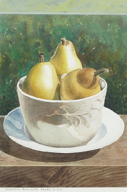 Artwork by William Griffith Roberts,  Pears in Old