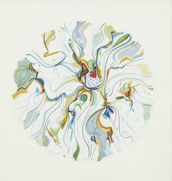 Artwork by Alex Simeon Janvier,  Untitled Composition