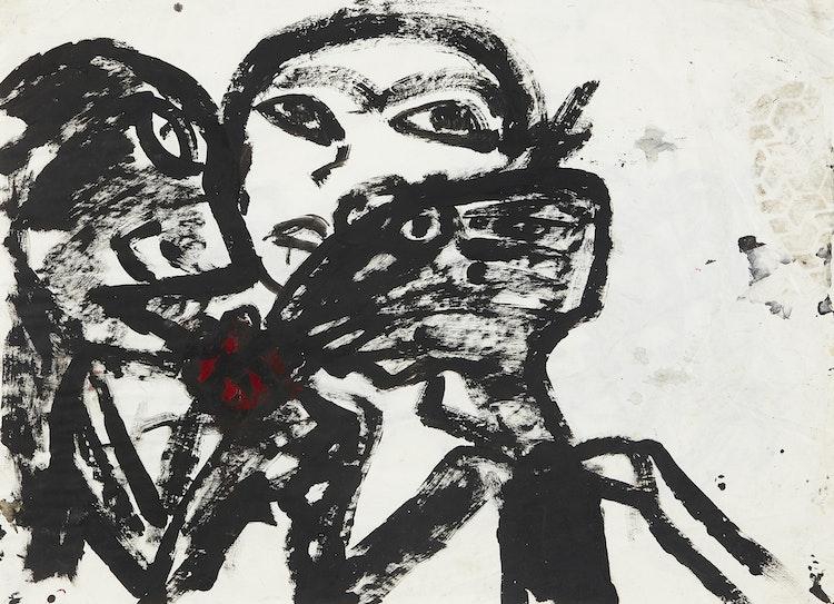 Artwork by John Scott,  Three Figures