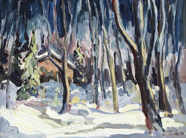 Artwork by Bruno Côté,  Vieux camp, Lac la Tourelle