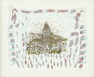 Artwork by Jean Paul Riopelle, Le clocher de Vétheuil