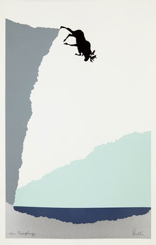 Artwork by Charles Pachter, Mooseplunge