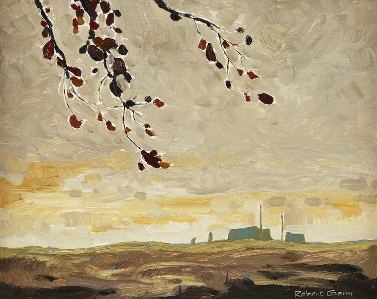 Artwork by Robert Genn,  Fort Rupert Landscape