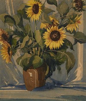 Artwork by William Garnet Hazard, Still Life of Sun Flowers