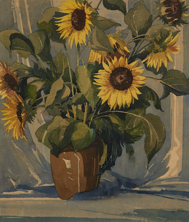 Artwork by William Garnet Hazard,  Still Life of Sun Flowers