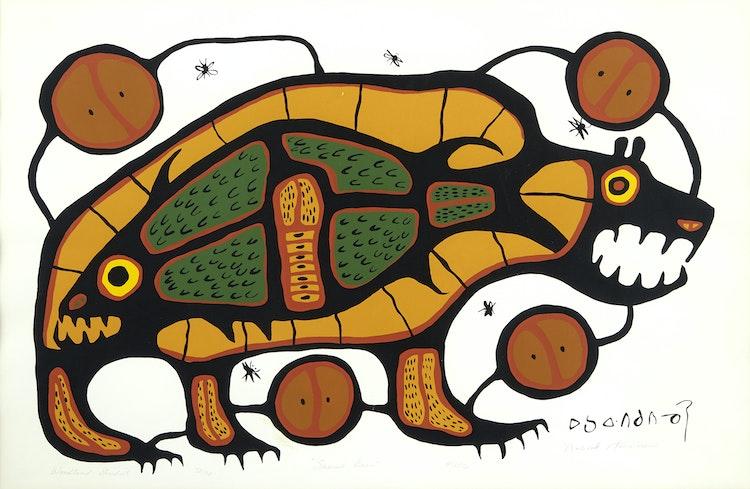 Artwork by Norval Morrisseau,  Sacred Bear